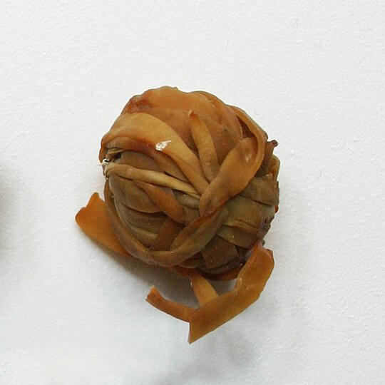 Ball made of wrapped rubber bands