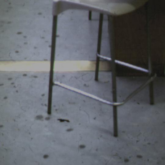 An example of bored classroom floors made by disengaged pupils swiveling on Science stools